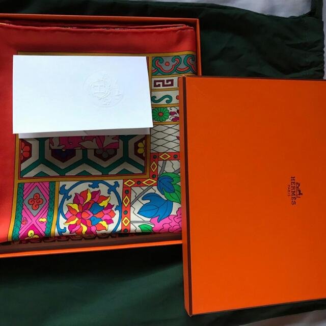 Original Hermes Orange Scarf
