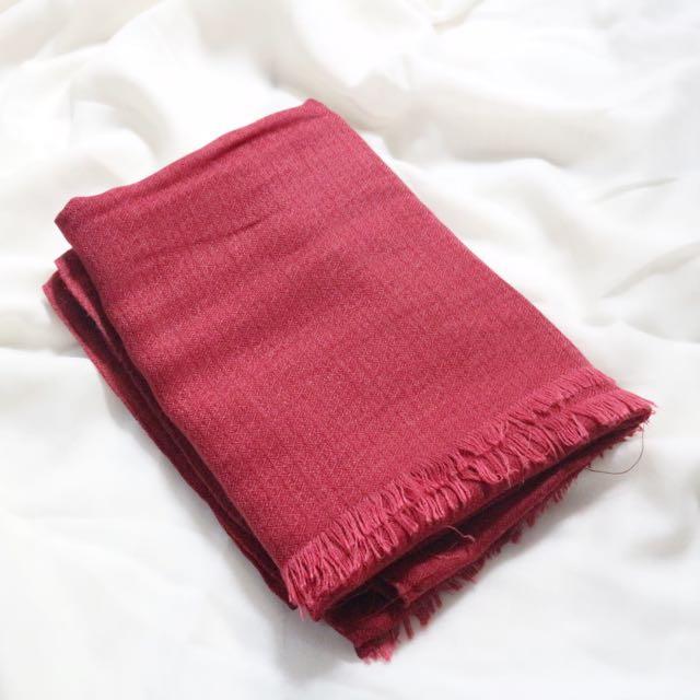 pashmina (maroon)