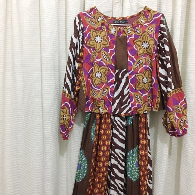Pattern Long Dress