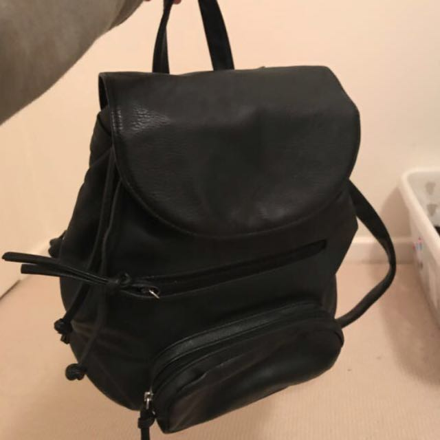 Pleather black backpack
