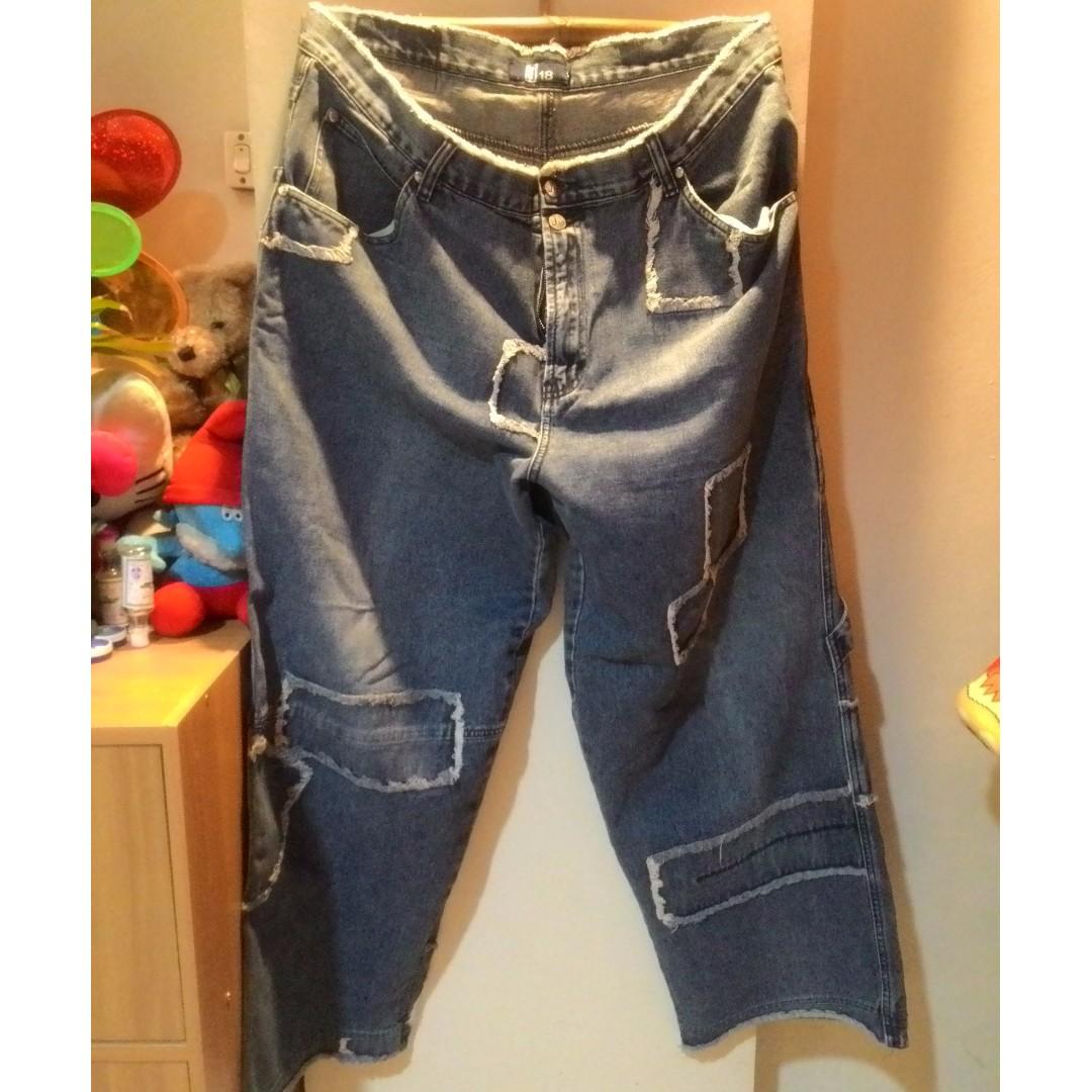 Plus Size tattered square pants