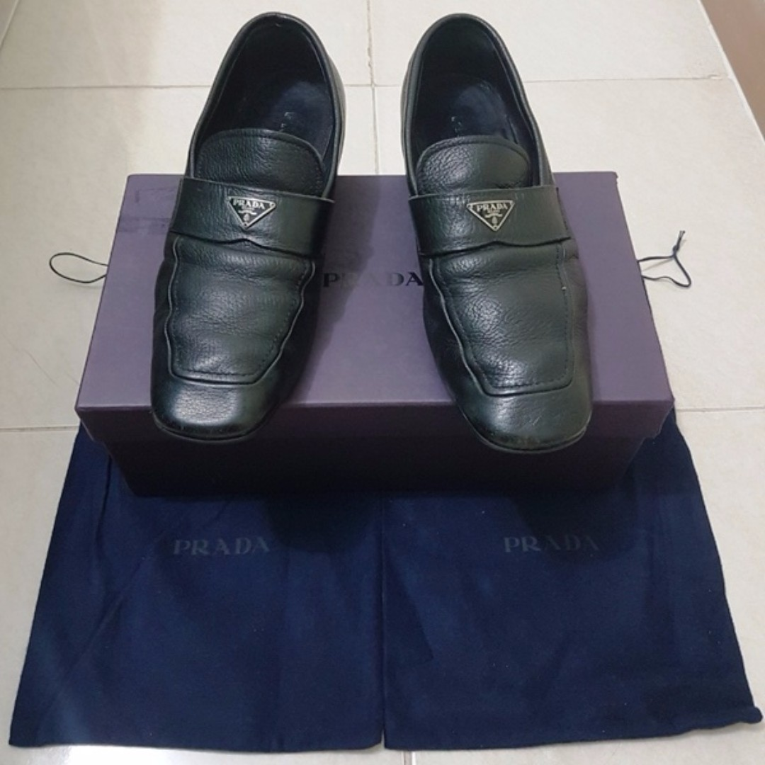 Prada black loafer original authentic not gucci lv hermes louboutin ... dc3752959f