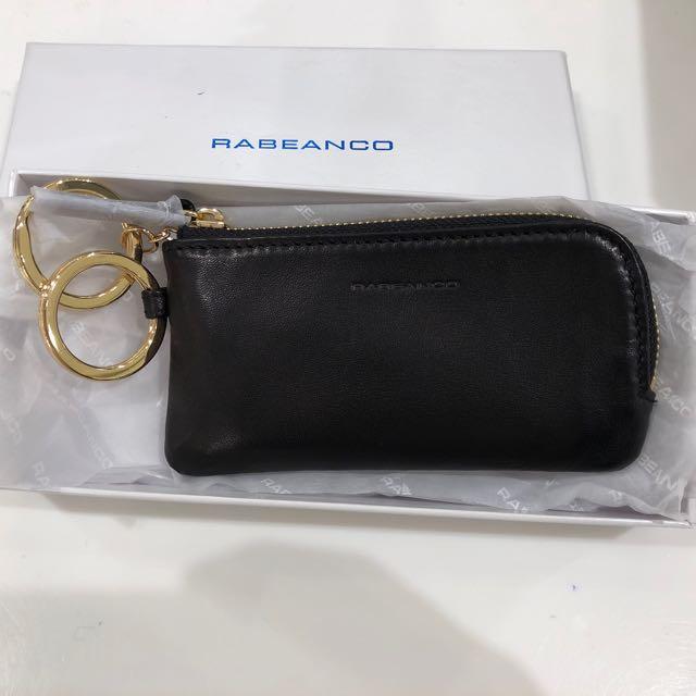 Rabeanco 羊皮黑 鑰匙零錢包
