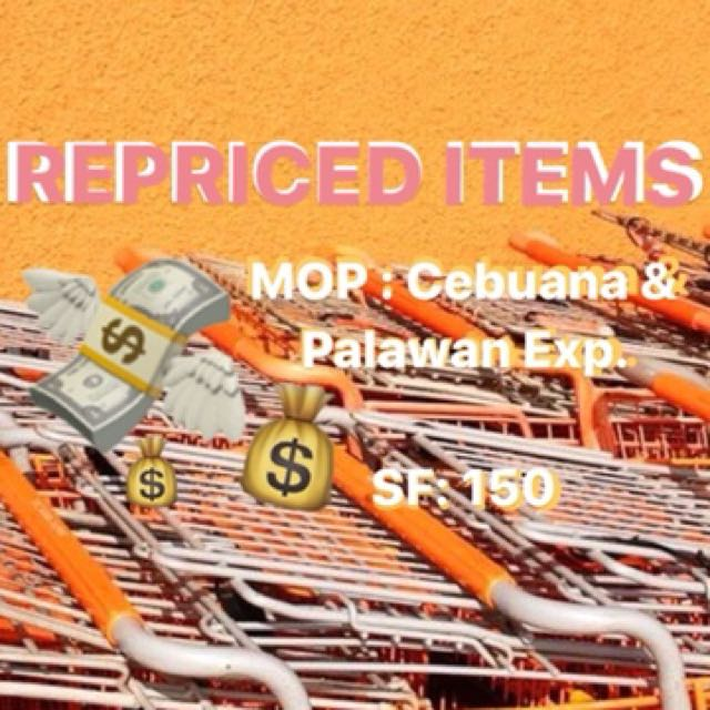 REPRICED ITEMS