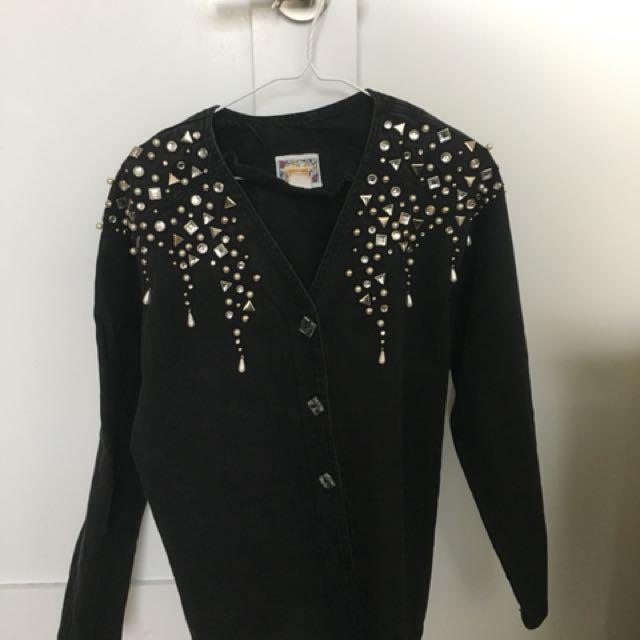 Revamp Black Denim Jacket