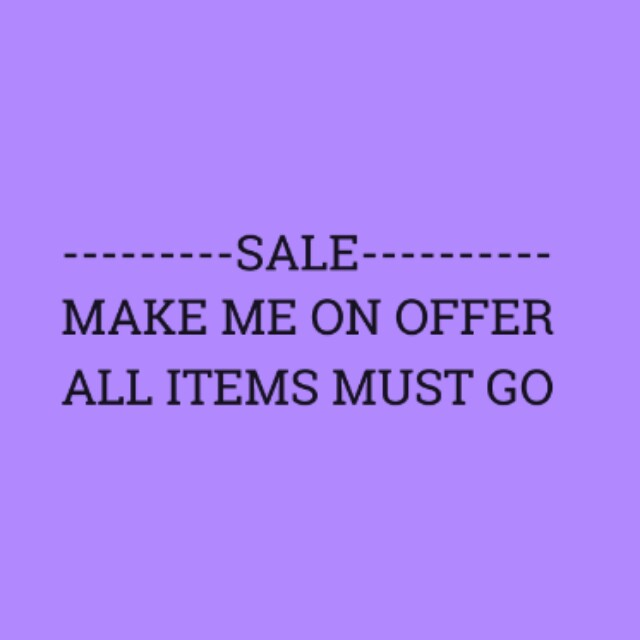SALE ON EVERYTHING