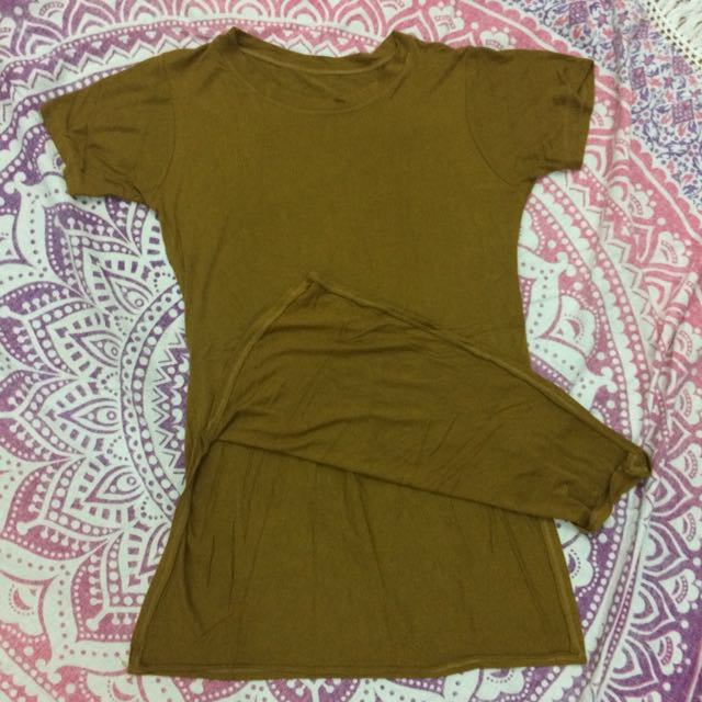 Shirt Dress w/ Slit