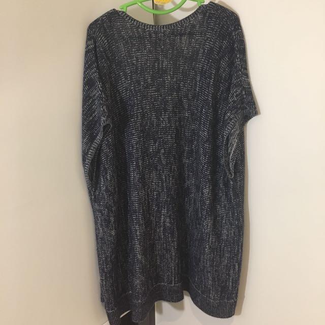 Short sleeves kimono thin knit