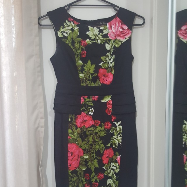 Size 10 black floral dress