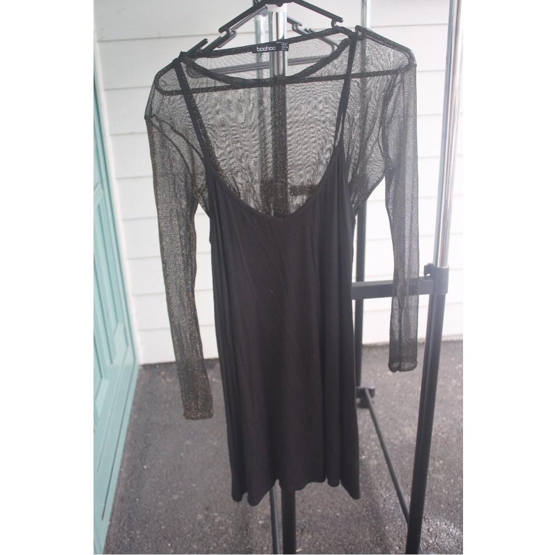 Slip dress with Mesh top