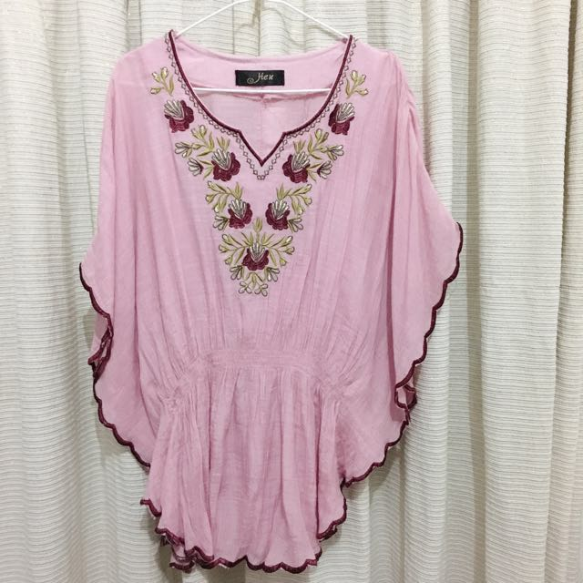 Soft Pink Embroidery Top