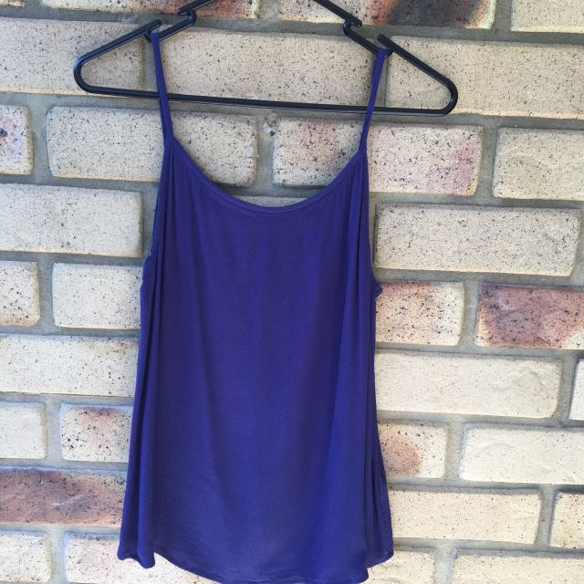 Sports girl Lack And Blue Cami Tops