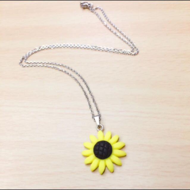 Sunflower Necklace & Earrings
