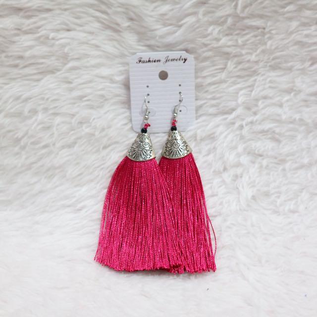 Tassle Earrings (Pink)
