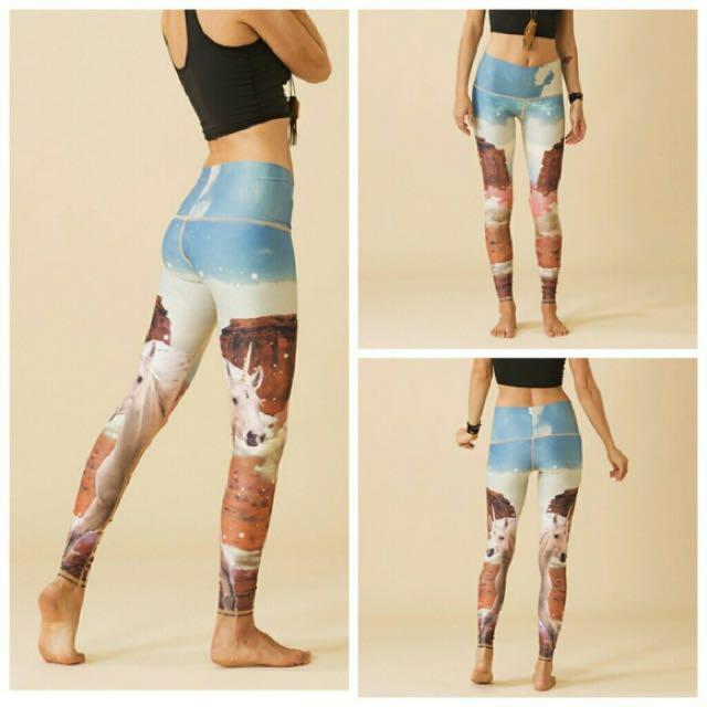 Teeki unicorn hot pants yoga leggings
