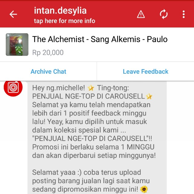 Thank You So Much Carousell