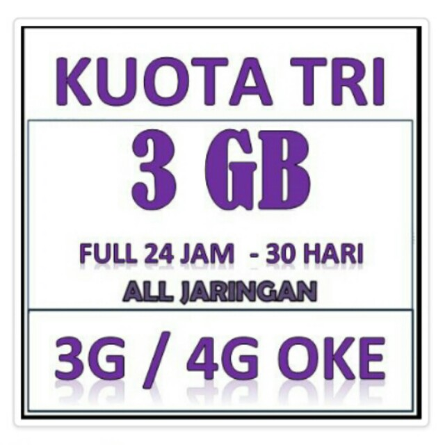 Three Broadband Mini Kuota 3GB