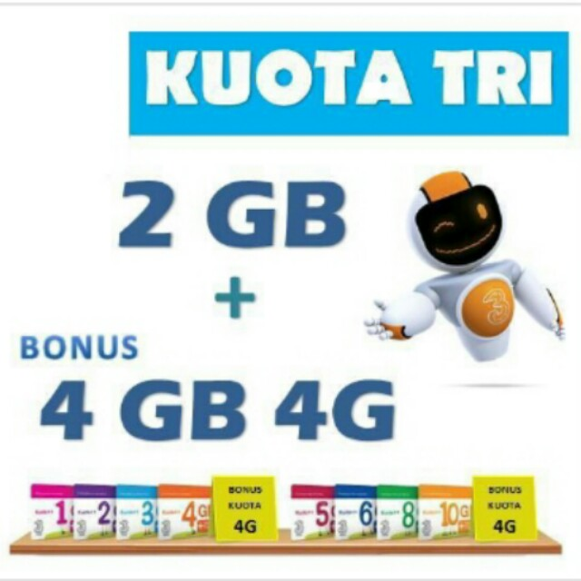 Three Kuota++ 2GB + Bonus 4GB 4G