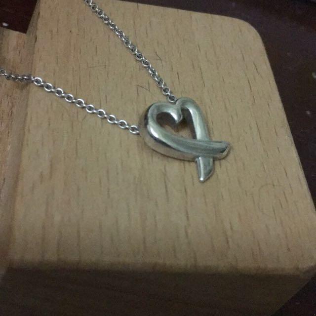 保證真品Tiffany&Co. 愛心項鍊  925純銀