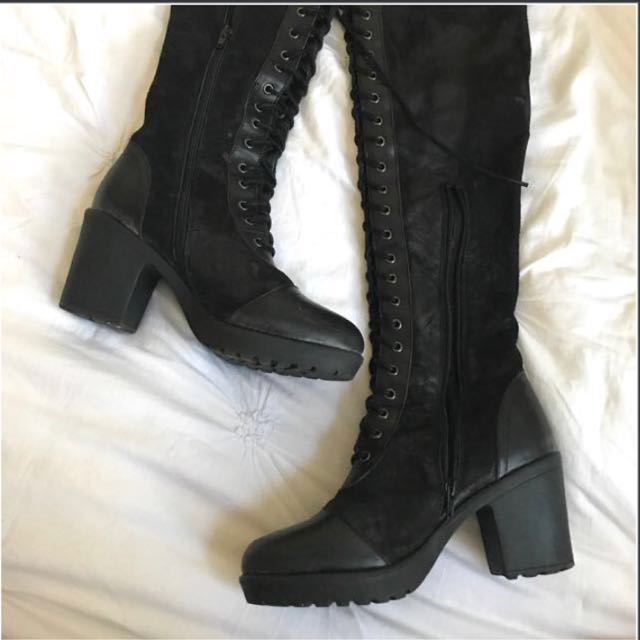 Tony Bianco | Size 7 | Thigh high lace up boots