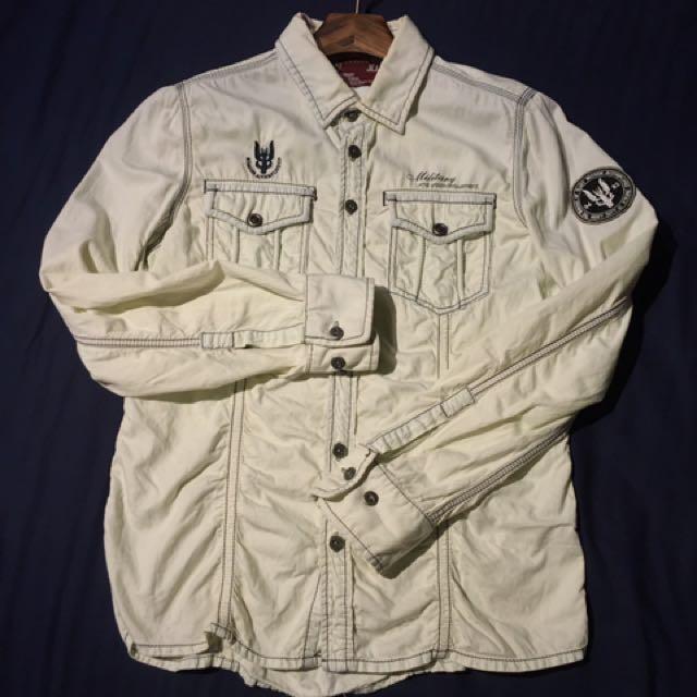 《TOUGH  洗舊感 軍裝元素 襯衫》
