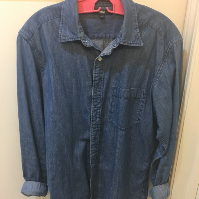 Uniqlo Denim Button Up