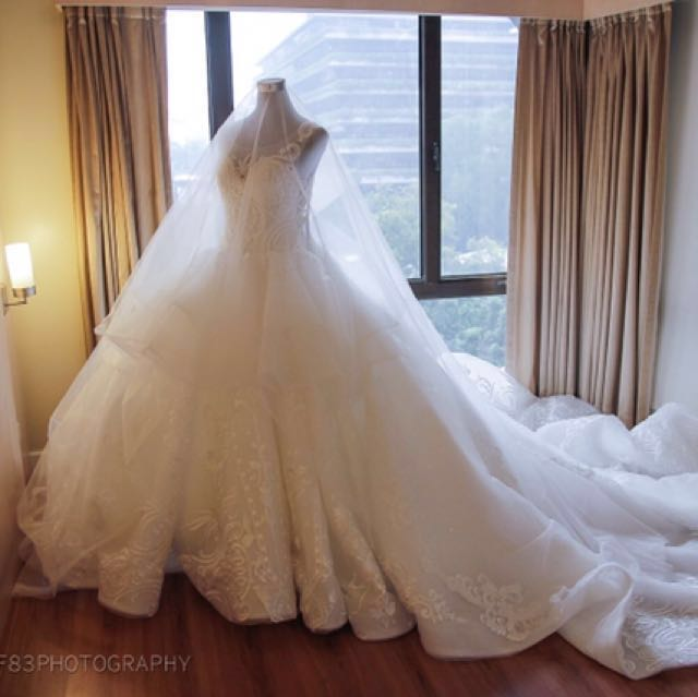 Wedding Gown For Rent Sale Preloved Womens Fashion Clothes On Carousell