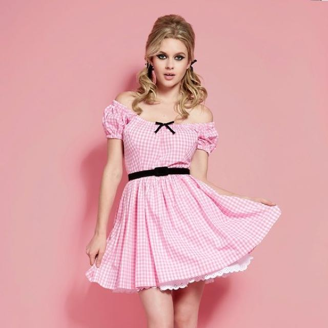Wheels & Dollbaby Gingham Cowgirl Dress Size 10