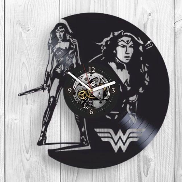 Wonder Woman Vinyl Record Wall Clock