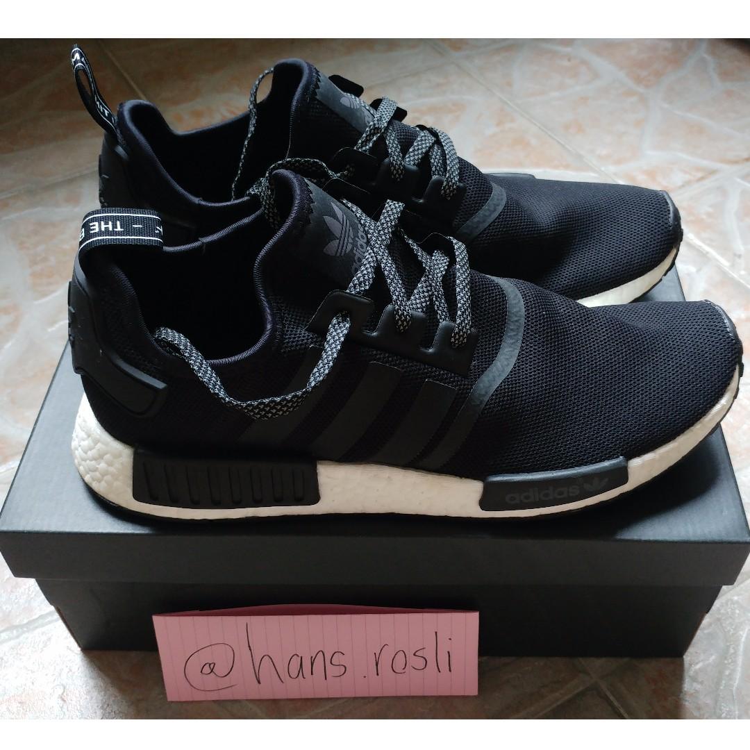 0c47539fc WTS  Adidas NMD R1 (Black Reflective) US11   UK10.5