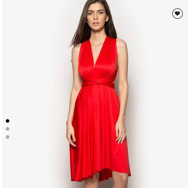 Zalora Red Infinity Dress