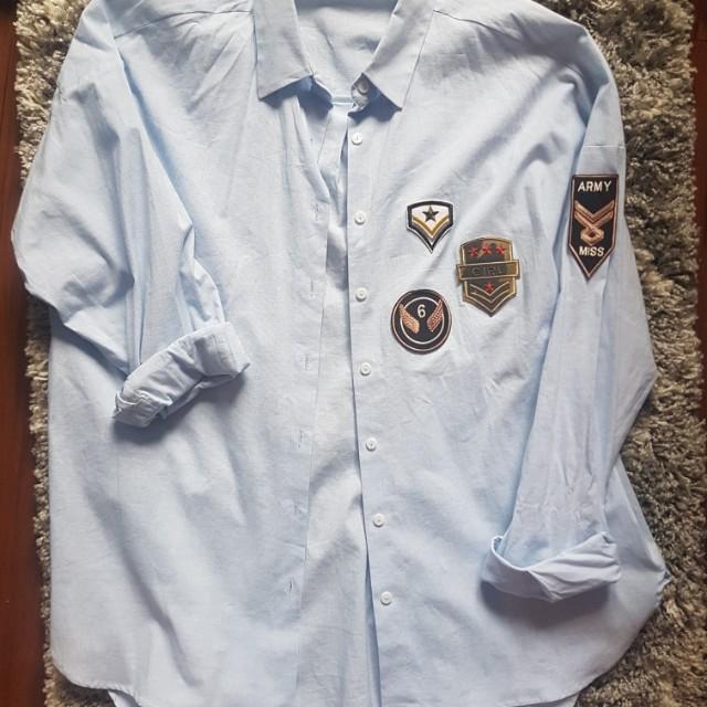 Zara Army Patch Shirt