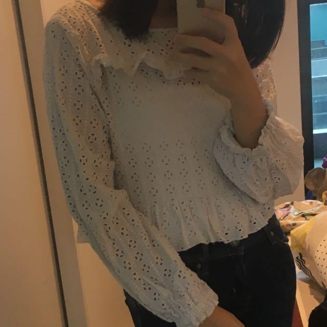 ZARA Crop white shirt