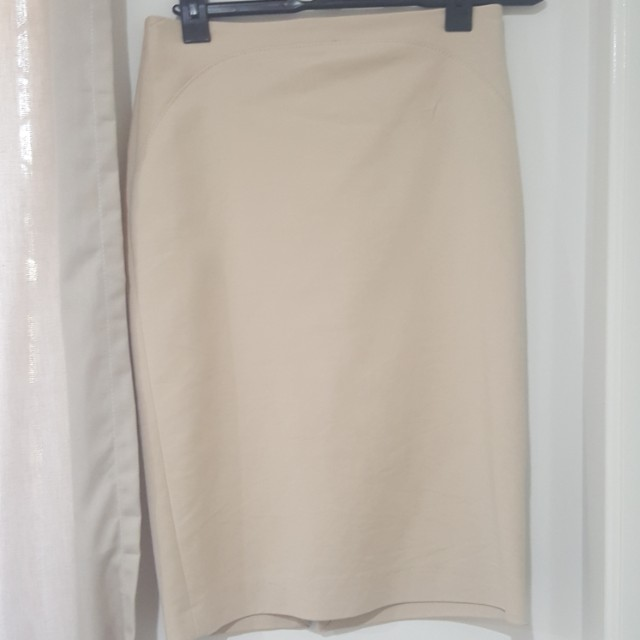 Zara knee length skirt camel / beige