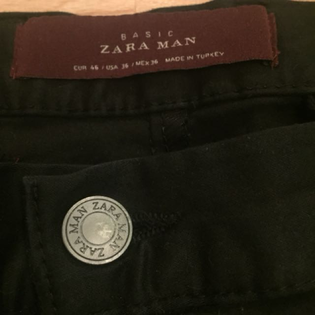 ZARA MAN BLACK TROUSERS