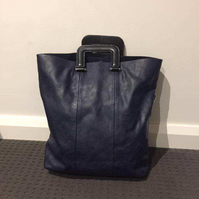 Zara Navy Handbag