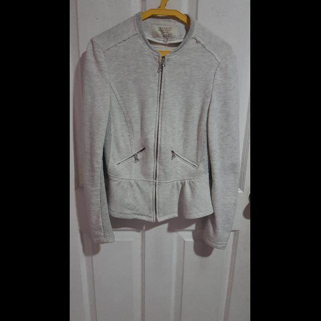 Zara Trafaluc Gray Peplum Jacket