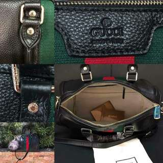 🔽repriced Authentic Overrun Gucci Vintage Boston Bag