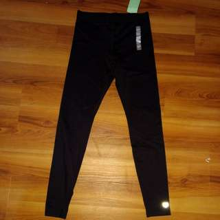F21 Active Laser cut black leggings