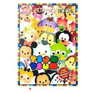 tsum tsum disney friends sticker colouring book for sale