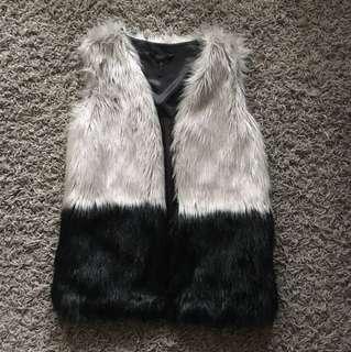 BCBG faux fur vest