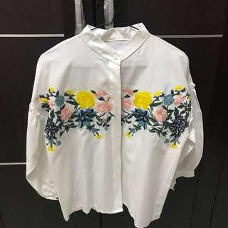 Baju Bordir Bunga