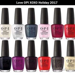 OPI Love OPI, XOXO Holiday 2017 Collection