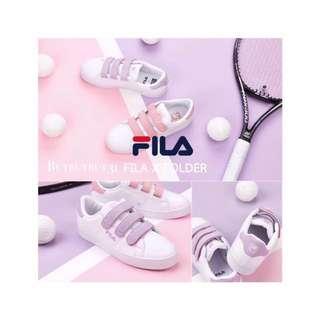 <Fila x Folder Court Deluxe Velcro - Purple / Pink>