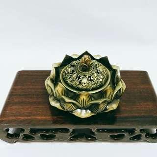 Lotus Incense Burner / 纯铜莲花盘香炉