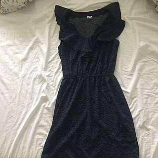 Navy Leopard print dress