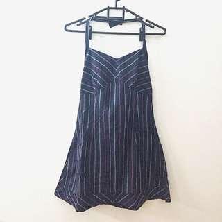 Stripe Halter Strap Dress