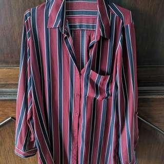 Mendocino Striped Shirt Dress.