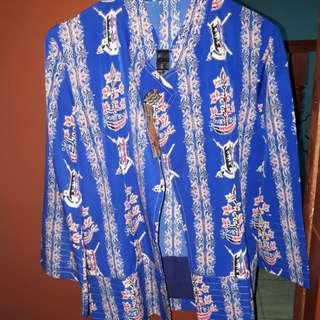 blue outer batik