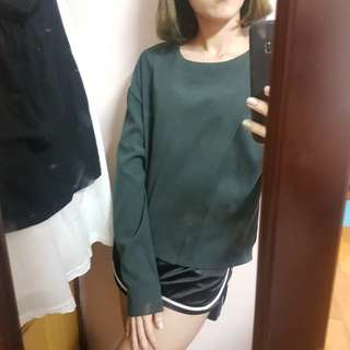 Queenshop墨綠上衣